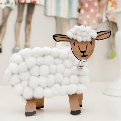 поделка овца
