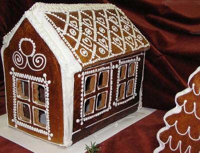 Пряничный домик из соленого теста своими руками фото 25