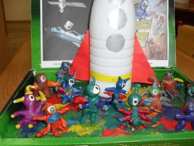 детские поделки на тему космос