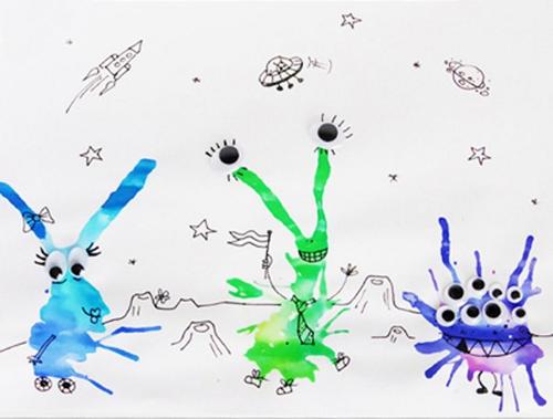 рисунки на тему космос