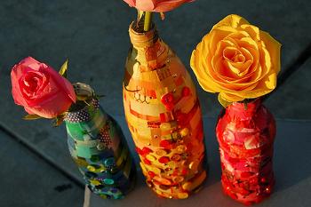 как сделать из бумаги вазу