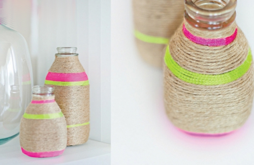 как сделать вазу из ниток