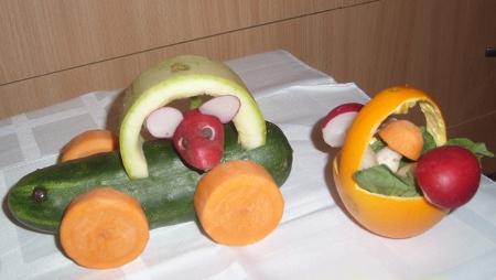 поделки из овощей фото